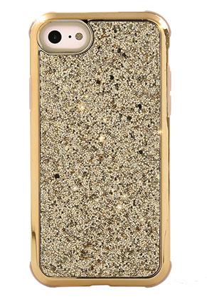 www.misstella.fr - Housse pour portable back cover en synthétique iPhone 8 avec paillettes 14,3x7,2cm