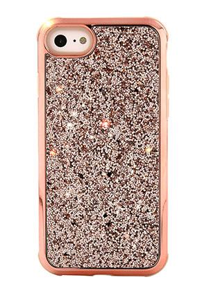 www.misstella.nl - Kunststof back cover telefoonhoesje voor iPhone 8 met glitters 14,3x7,2cm