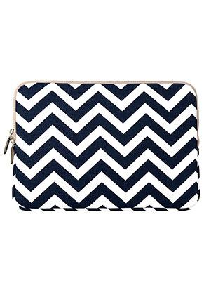 www.misstella.com - Laptop sleeve 15,4 inch with Zig Zag print 37x26x2,5cm