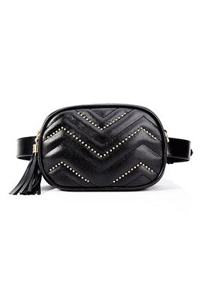 www.misstella.com - Imitation leather bum bag/shoulder bag quilted