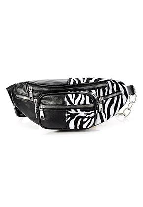 www.misstella.com - Imitation leather bum bag with zebra print