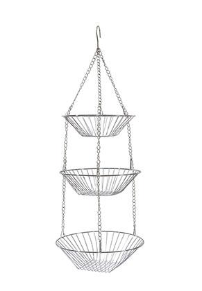 www.misstella.com - Hanging metal fruit bowl 3 layer 75x28cm