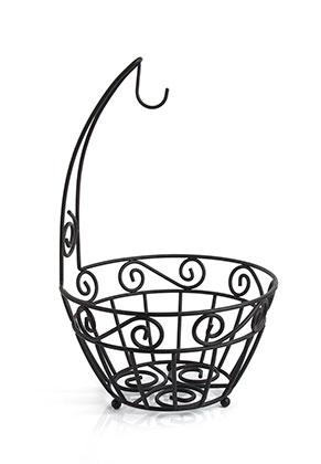 www.misstella.com - Metal fruit bowl with hook 41x25,5cm