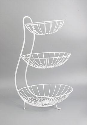 www.misstella.com - Metal etagere fruit bowl 3 layer 49x30cm