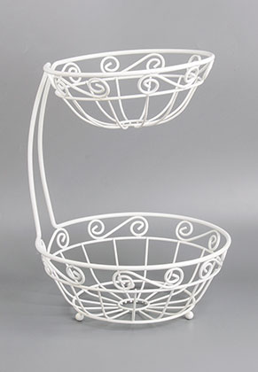 www.misstella.com - Metal etagere fruit bowl 2 layer 33x24,5cm