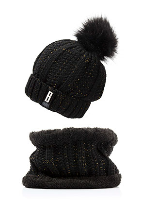 www.misstella.com - Set of hat and tunnel scarf
