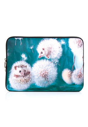 www.misstella.com - Laptop sleeve 13,3 inch with hedgehogs print 34x24x2cm
