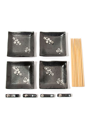 www.misstella.com - Sushi set contains dishes, chopsticks and chopstick rest