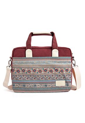 www.misstella.com - Canvas artisan laptop sleeve/laptop bag 13,3 inch with flowers 37x28x7cm