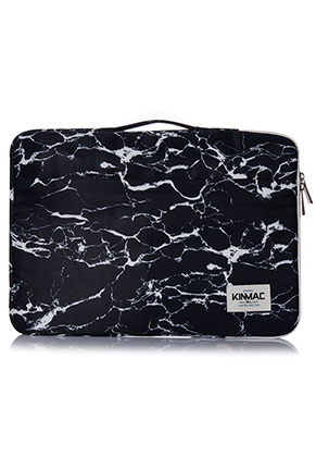 www.misstella.nl - Kinmac laptop sleeve 15,6 inch met marmer print 39x27,5x3cm