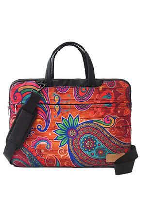 www.misstella.nl - Misstella laptop sleeve/laptoptas 16 inch met paisley print 42x30x2cm