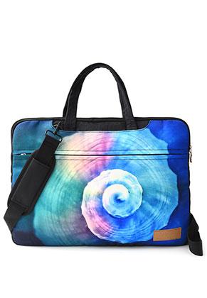 www.misstella.nl - Misstella laptop sleeve/laptoptas 17 inch met schelp 45x33x2cm