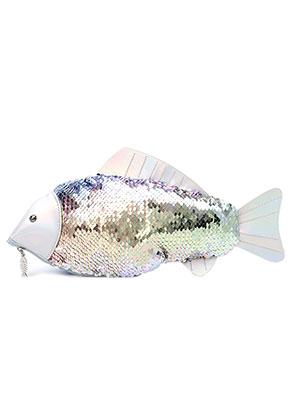 www.misstella.fr - Sac à main avec paillettes réversibles poisson 32x12cm