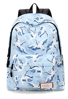 www.misstella.com - Bansusu backpack with birds 40x32x16cm