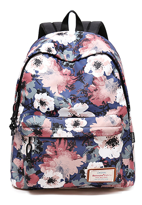 www.misstella.com - Bansusu backpack with flowers 40x32x16cm