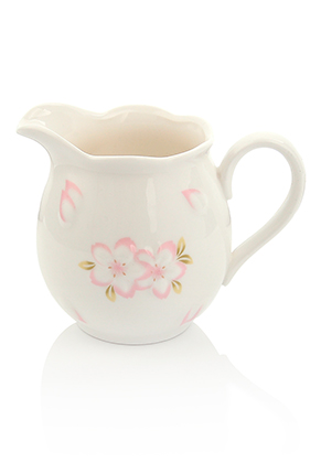 www.misstella.com - Ceramic milk jug with flowers 11x8cm