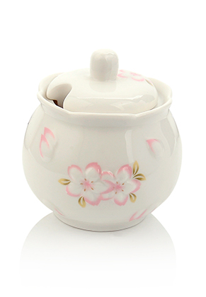 www.misstella.com - Ceramic sugar bowl with flowers 9,5x9cm