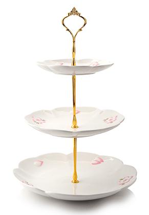 www.misstella.com - Ceramic etagere 3 layer 38x25,5cm