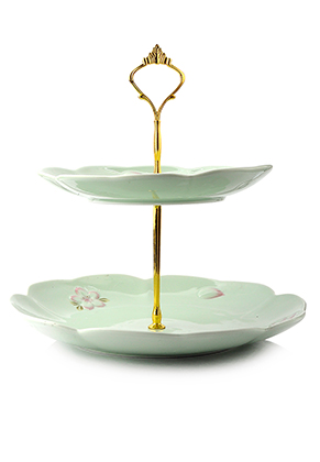 www.misstella.com - Ceramic etagere 2 layer 28x25,5cm