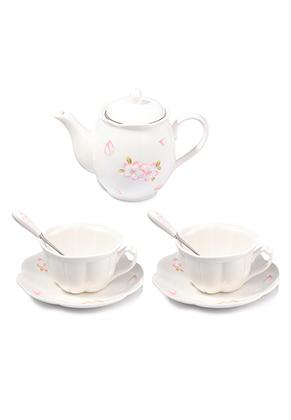 www.misstella.com - Two piece ceramic tea set with flowers