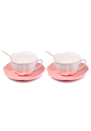 www.misstella.com - Set of ceramic cups and saucers with flowers