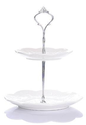www.misstella.com - Ceramic etagere fruit bowl 2 layer 26x25cm
