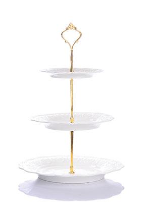 www.misstella.com - Ceramic etagere fruit bowl 3 layer 37x25cm