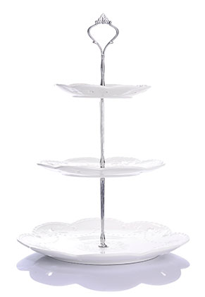 www.misstella.com - Ceramic etagere fruit bowl 3 layer 37x26,5cm