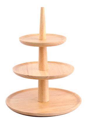 www.misstella.com - Wooden etagere fruit bowl 3 layer 32x25,5cm