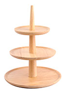 www.misstella.com - Wooden etagere fruit bowl 3 layer 32x25,5cm - F07086