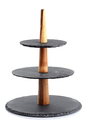 www.misstella.com - Stone etagere 3 layer 31x25cm