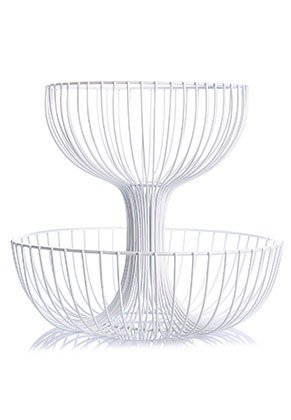 www.misstella.com - Metal etagere fruit bowl 2 layer 30x27cm