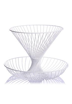 www.misstella.com - Metal etagere fruit bowl 2 layer 30x22cm