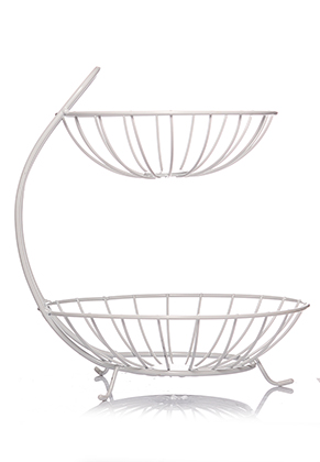 www.misstella.com - Metal etagere fruit bowl 2 layer 32x26,5cm
