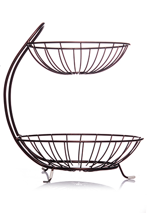 www.misstella.com - Metal etagere fruit bowl 2 layer 32x26,5cm
