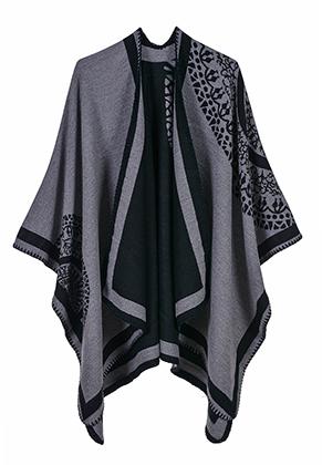 www.misstella.com - Open poncho/cape with mandala print 150x130cm
