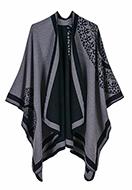 www.misstella.com - Open poncho/cape with mandala print 150x130cm - F07146