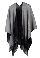 www.misstella.com - Open poncho/cape double sided 160x110cm - F07155