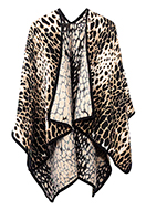 www.misstella.com - Open poncho/cape with panther print 150x130cm - F07156