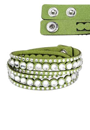 www.misstella.fr - Bracelet wrap en daim artificiel avec strass 17-18cm