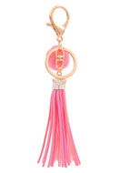 www.misstella.com - Key fob with tassel and pompom - J04151