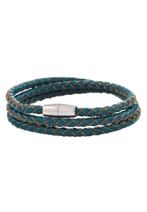 www.misstella.nl - Leren wikkelarmband 18cm