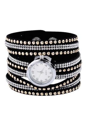 www.misstella.nl - Horloge armband met strass 16-18cm