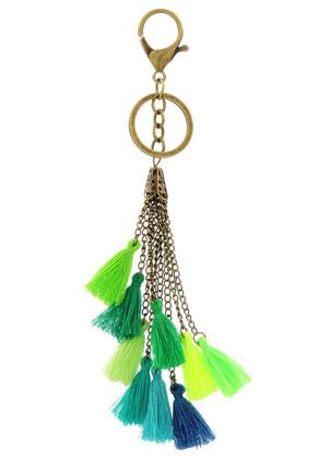 www.misstella.fr - Porte-clés avec pompons 22cm
