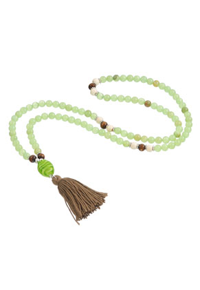 www.misstella.com - Mala necklace with natural stone and tassel (108 beads) 85cm