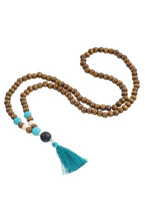 www.misstella.com - Mala necklace with tassel (108 beads) 74cm