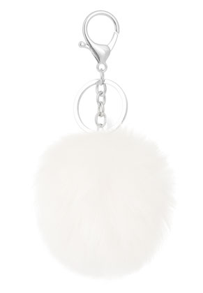 www.misstella.com - Key fob with fluff ball