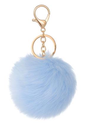 www.misstella.com - Key fob with fluff ball