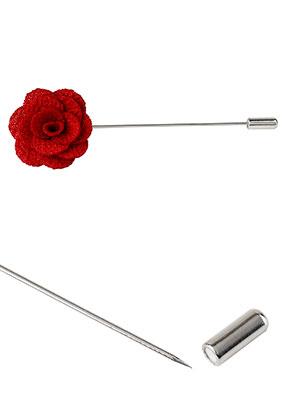 www.misstella.com - Stick pin brooch with flower 90x28mm