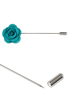 www.misstella.com - Stick pin brooch with flower 90x28mm
